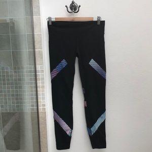 Rainbow low rise athletic leggings